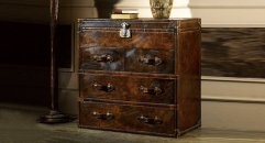 Full top grain leather chest of drawers