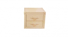 White trunk, night table, end table