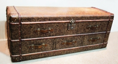 Antique trunk, cabinet