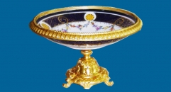 small golden fruit bowl, compote