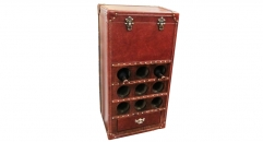 Full top grain leather liquor cabinet, wine chest, drinks cabinet