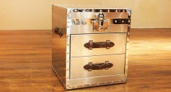 Stainless steel trunk, end table, night table