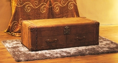 Antique trunk, end table, night table