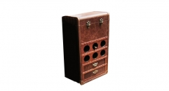 Full top grain leather wine chest, drinks cabinet, liquor cabinet