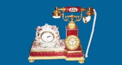 telephone shape electronic clock