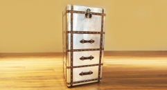 Aluminium trunk, chest, cabinet, sideboard