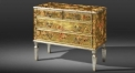 floral console table, cabinet