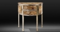New classical hand painted Semicircle floral console table