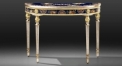 European style antique hand painted console table