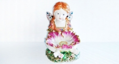 angel with seashell (porcelain art)