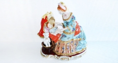 play with baby,maternal love (porcelain art)