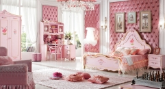 Baroque style bedroom set, princess style