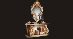 Royal console table with mirror