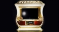 wood carved plasma TV cabinet