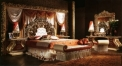 Imperial golden wood carved bedroom set