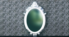 New classical decorative oval mirror
