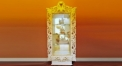Imperial wood carved glass door showcase