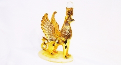 Exquisite golden 24K home decor metal craft animal decoration , European-style home accessories vintage ornaments