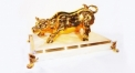 Classical golden 24K home decor metal craft cow decoration , European-style home accessories vintage ornaments