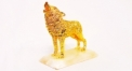 Exquisite golden 24K home decor metal craft wolf decoration , European-style home accessories vintage ornaments