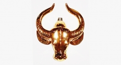 Luxury golden 24K home decor metal craft cow decoration , European-style home accessories vintage ornaments