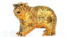Exquisite golden 24K home decor metal craft bear decoration , European-style home accessories vintage ornaments