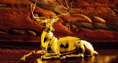 Exquisite golden 24K home decor metal craft deer decoration , European-style home accessories vintage ornaments