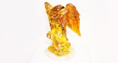 Royal golden 24K home decor metal craft eagle decoration , European-style home accessories vintage ornaments