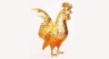 Exquisite golden 24K home decor metal craft cock decoration , European-style home accessories vintage ornaments