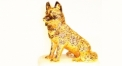 Luxury golden 24K home decor metal craft dog decoration , European-style home accessories vintage ornaments