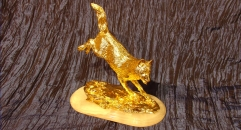 Exquisite golden 24K home decor metal craft dog decoration , European-style home accessories vintage ornaments