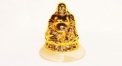 Luxury golden 24K home decor metal craft Buddha decoration , European-style home accessories vintage ornaments