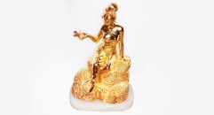 Luxury golden 24K home decor metal craft beauty lady decoration , European-style home accessories vintage ornaments