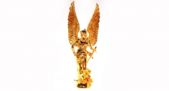 Luxury golden 24K home decor metal craft God of war decoration , European-style home accessories vintage ornaments