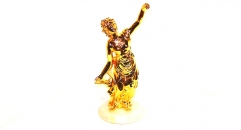 Classical golden 24K home decor metal craft dancing decoration , European-style home accessories vintage ornaments