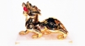 Exquisite golden 24K home decor metal craft Kylin decoration , European-style home accessories vintage ornaments