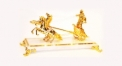 Exquisite golden 24K home decor metal craft carriage decoration , European-style home accessories vintage ornaments