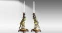 Parrot Decorative Candlestick Exquisite Porcelain Candle Holder