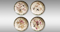 New Classical Style Ceramic Decorative Plate Dish Flower and Bird Theme