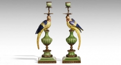 Crack Pattern Parrot Decorative Candlestick Exquisite Candle Holder