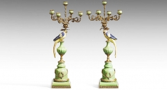 Crack Pattern Parrot Decorative Candlesticks Exquisite Candle Holders