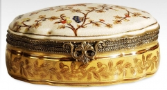 Antique Porcelain Decorative Cosmetic Box
