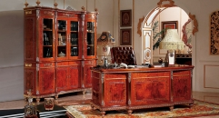 Italy Style Luxury Solid Wood Office Set Executive Office
