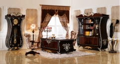 Italy Style Refined Solid Wood Office Set