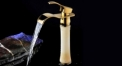 European Style natural jade Single Handle single holder cold and hot water Bathroom Faucet