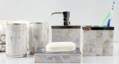 5pcs classical resin bathroom set , cup, toothbrush holder, soap dish, lotion bottle, wedding gift