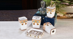 5pcs Luxury royal bathroom set , tumbler,toothbrush holder,soap dish,lotion bottle, wedding gift