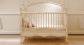 European Solid Wood 2 in 1 Crib Switchable to Kids Bed German Beech Refined Baby Cot