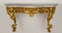 Luxury hand made copper and marble console table, living room european style console table,