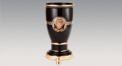 classical royal style black glazed vase, luxury ceramic hand made vase, European style table vase